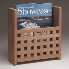 Teak Magazine Rack Grating Finish